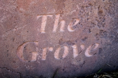 The Grove Text Stone Image